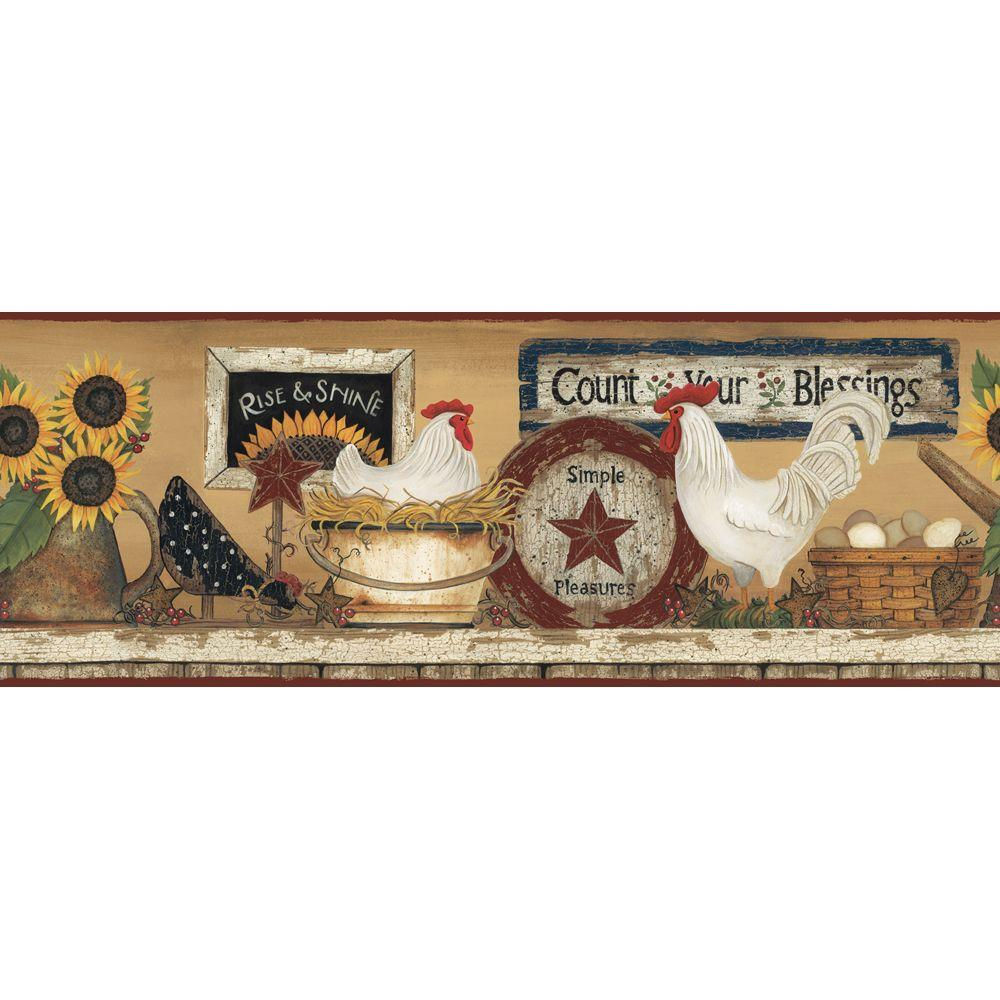 york wallcoverings hen and rooster wallpaper border-cb5539bd - the