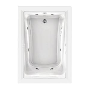 American Standard EverClean 60 inch x 32 inch Reversible Drain Whirlpool Tub in White by American Standard