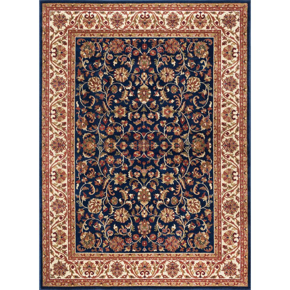 tayse rugs sensation navy 11 ft x 15 ft traditional area rug sns4817 11x15 the home depot. Black Bedroom Furniture Sets. Home Design Ideas