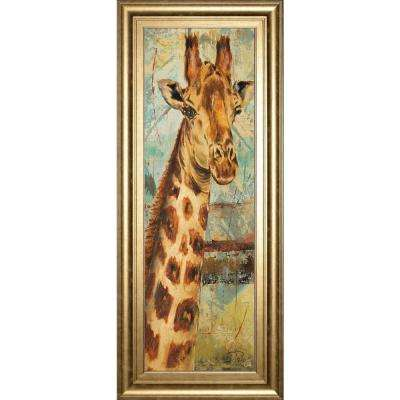 "18 in. x 42 in. ""New Safari on TeaL I"" by Patricia Pinto Framed Printed Wall Art"