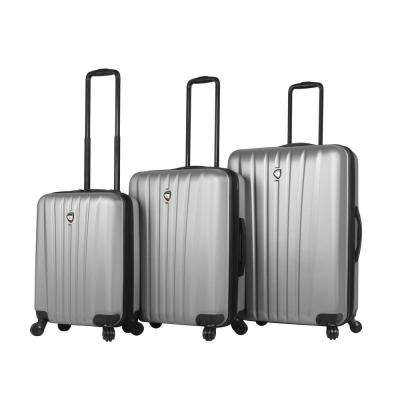 Magari 3-Piece Silver Hard Side Spinner Luggage Set