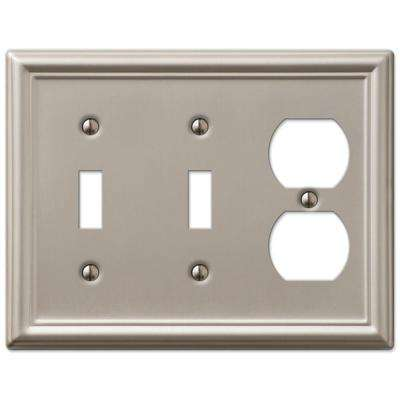Chelsea 2 Toggle and 1 Duplex Wall Plate - Brushed Nickel
