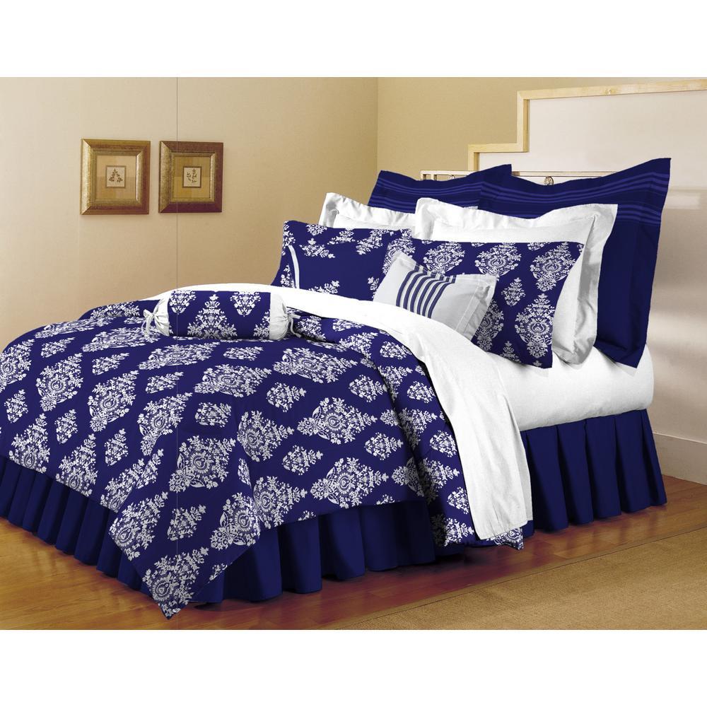 Home Dynamix Clic Trends Indigo 5 Piece Full Queen Comforter Set
