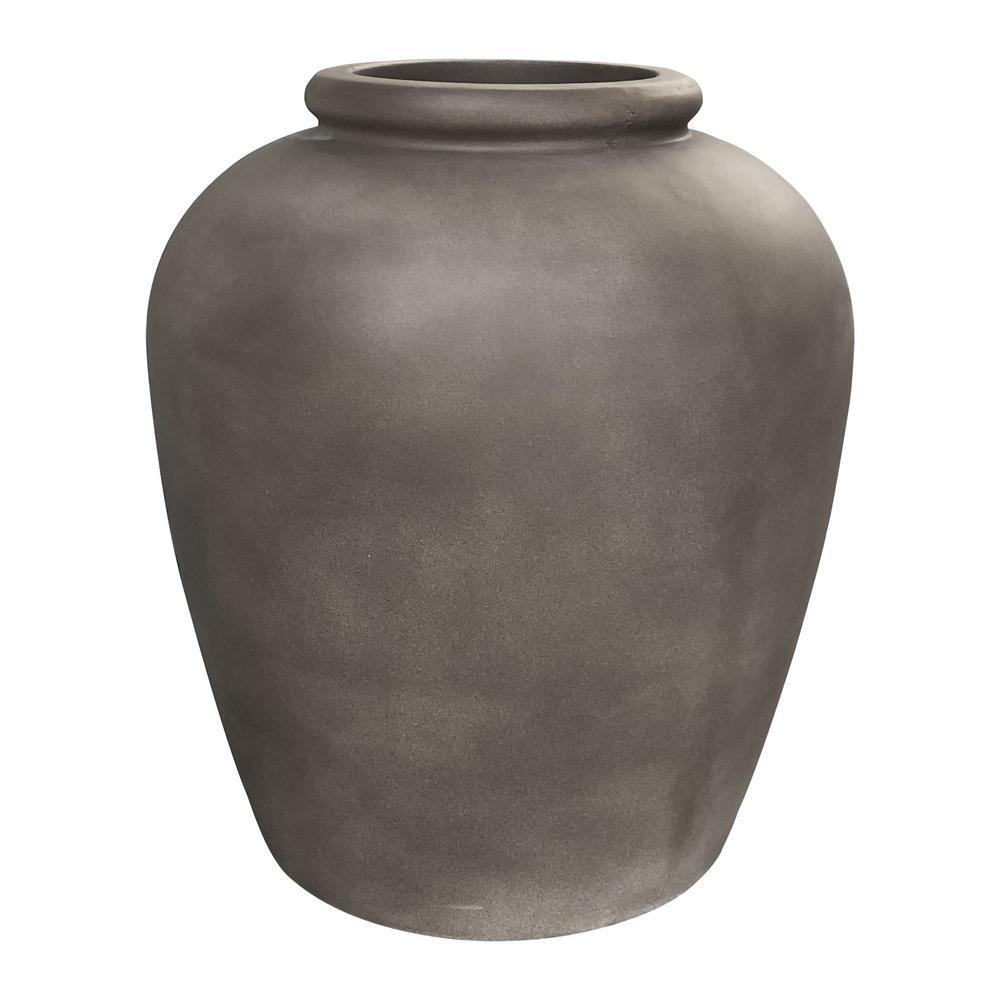 16.9 in. Dia x 18.9 in. Brown Lightweight Sauerkraut Pot Planter