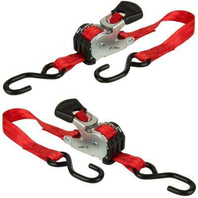 6 ft. x 1 in. 500 lb. Retractable Ratchet (2-Pack)