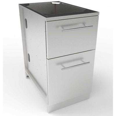 Designer Series 304 Stainless Steel 18 in. x 34.5 in. x 28.25 in. Insulated Ice Chest Outdoor Kitchen Cabinet
