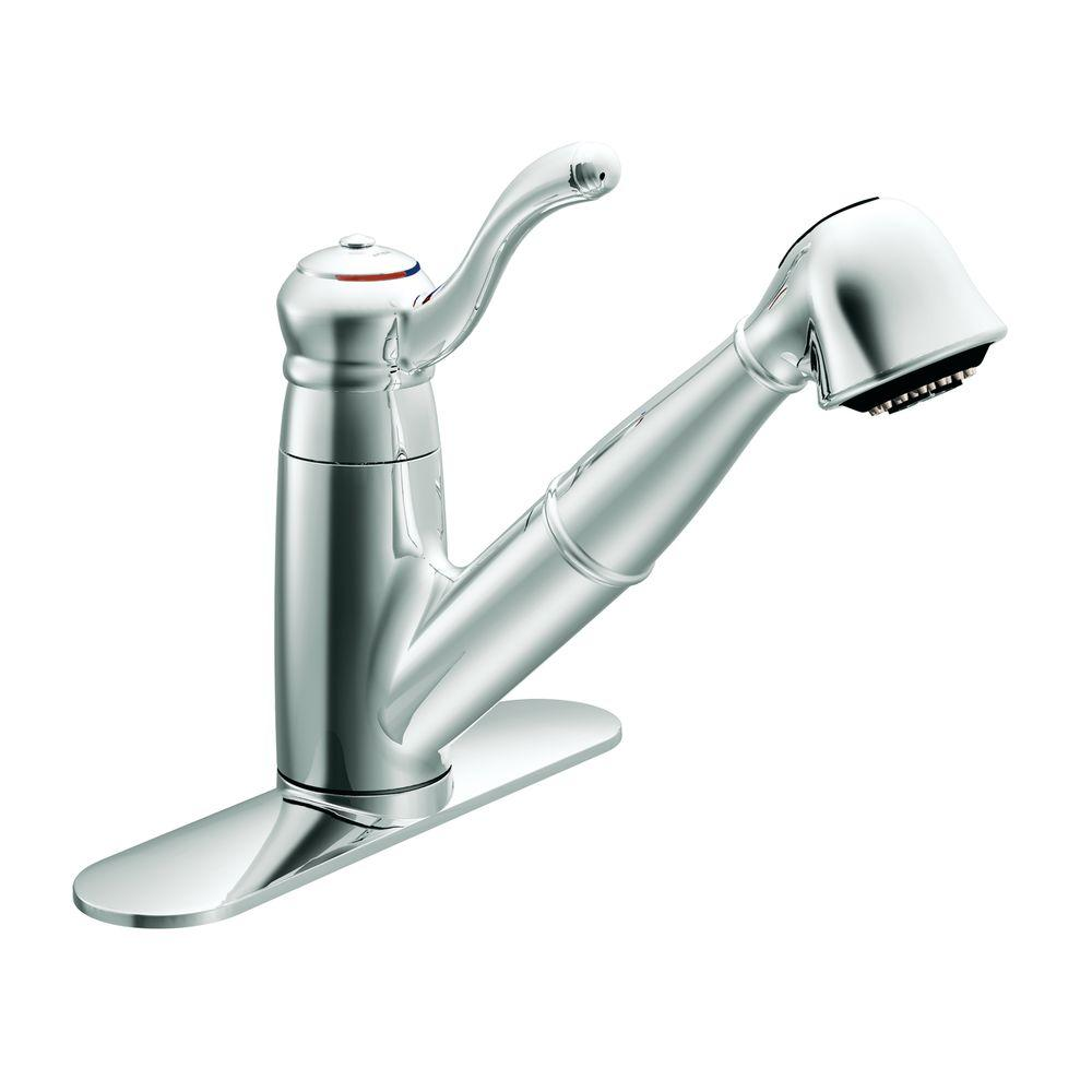 MOEN Colonnade Single-Handle Pull-Out Sprayer Kitchen Faucet in Chrome-DISCONTINUED