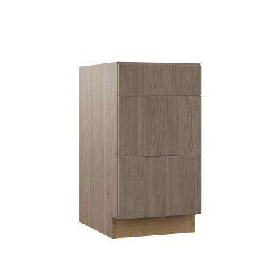 Edgeley Assembled 18x34.5x23.75 in. Drawer Base Kitchen Cabinet in Driftwood