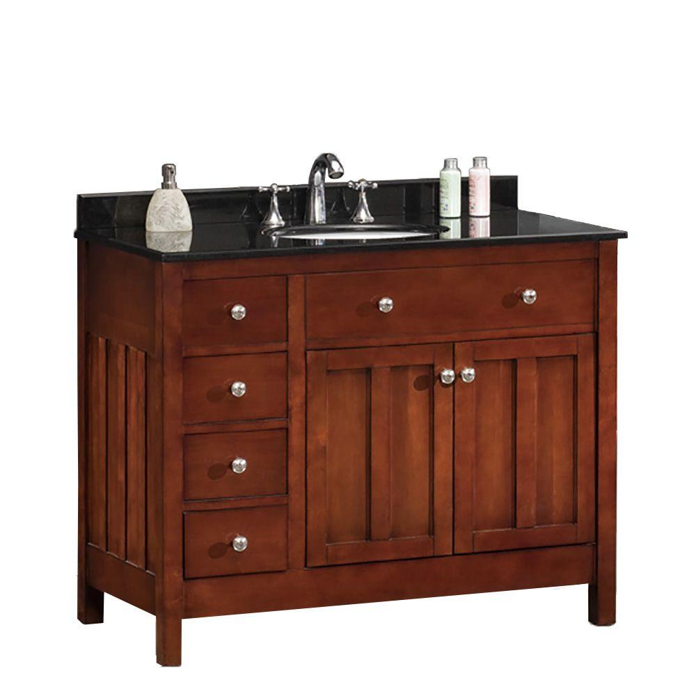 OVE Decors Adam 42 in  W x 21 in  D Vanity in Dark Cherry. OVE Decors Adam 42 in  W x 21 in  D Vanity in Dark Cherry with