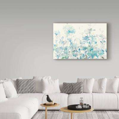 """30 in. x 47 in. """"Translucent Garden Blue Crop"""" by Danhui Nai Printed Canvas Wall Art"""