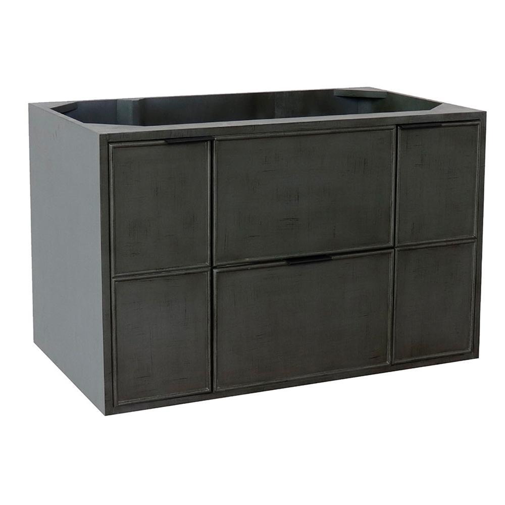 Scandi II 36 in. W x 21.5 in. D Wall Mount Bath Vanity Cabinet Only in Gray