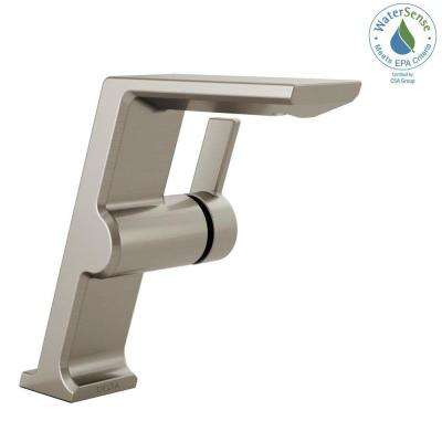 Pivotal Mid-Height Single Hole Single-Handle Bathroom Faucet in Stainless