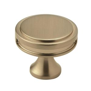 Oberon 1-3/8 in (35 mm) Diameter Golden Champagne Cabinet Knob