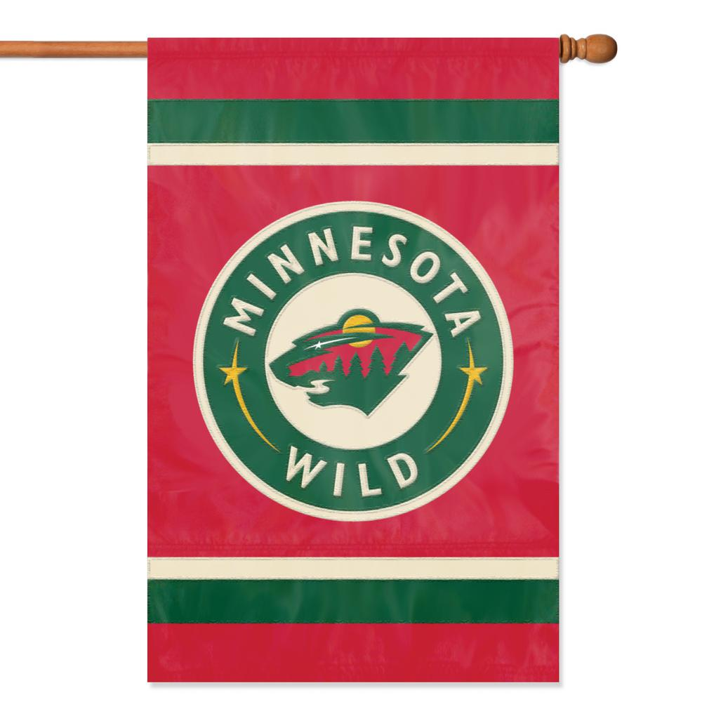 Party Animal Minnesota Wild Applique Banner Flag-AFWIL - The Home Depot 20dcd2a0c