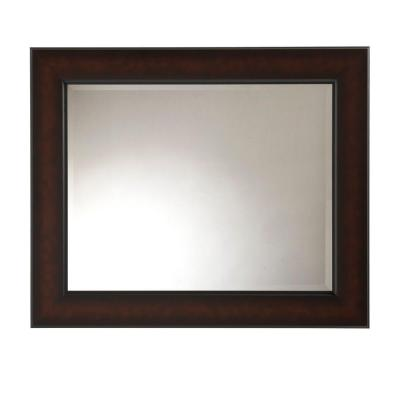 Sloane 29 in. x 35 in. Coppered Bronze Framed Wall Mirror