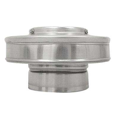 4 in. Dia. Aluminum Vent Pipe Cap in Mill Finish