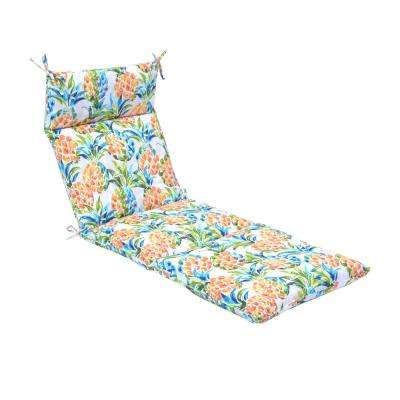 Pineapples Outdoor Chaise Lounge Cushion