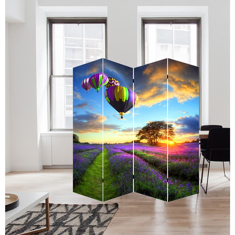 71 in Air Balloons Art Canvas Room Divider FW1503C The Home Depot