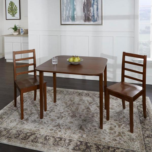 Table Furniture Natural And Mahognay Lunar Rubberwood Drop Leaf Dining Table And Chairs In Oak Home Furniture Diy Breadcrumbs Ie