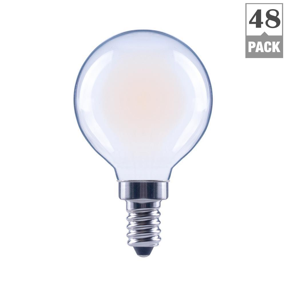 Ecosmart 40w Equivalent Soft White A19 Dimmable Filament: EcoSmart 60-Watt Equivalent Soft White G16.5 E12 Base