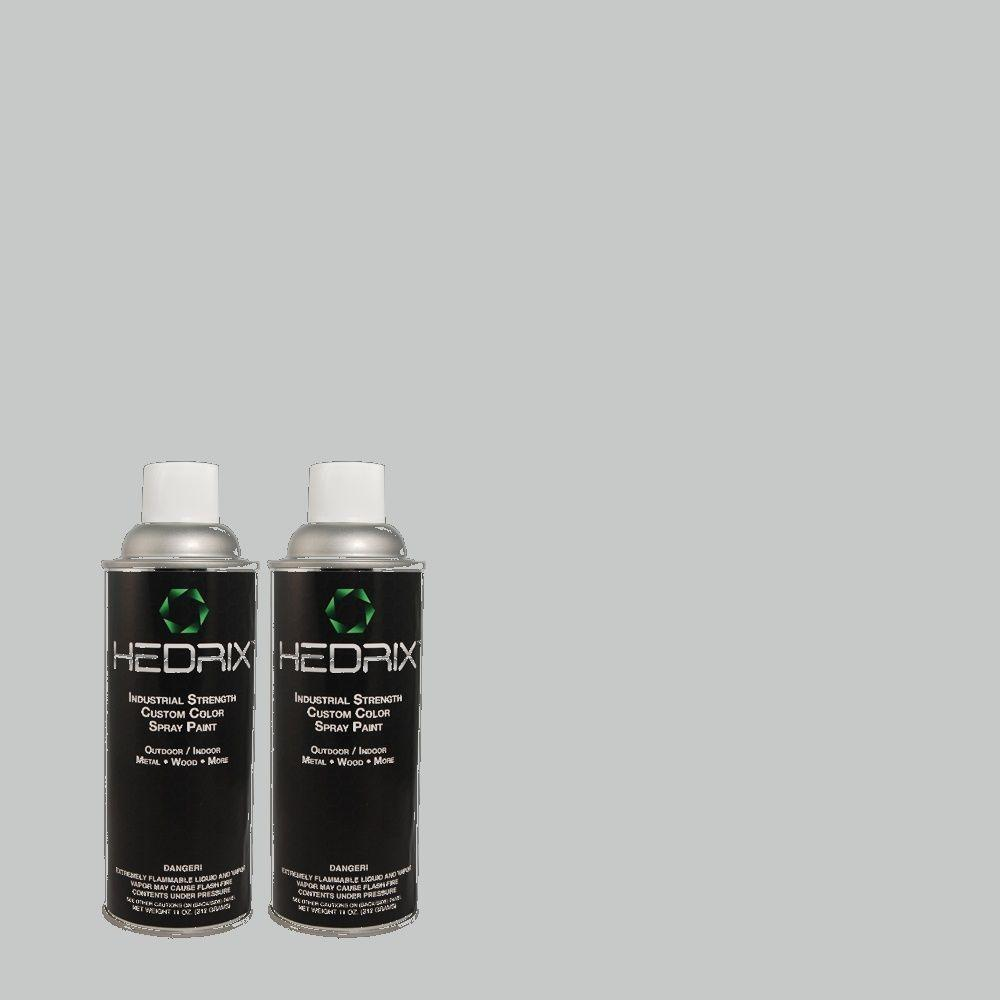 Hedrix 11 oz. Match of PPH-42 Nautical Gray Flat Custom Spray Paint (2-Pack)