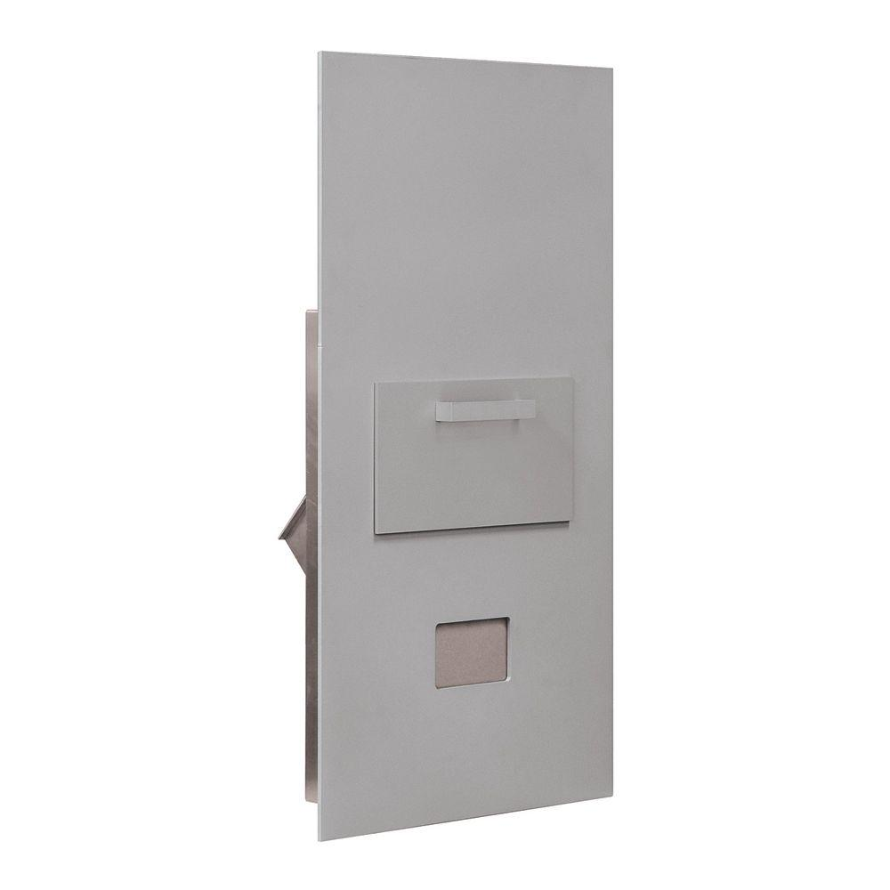 Salsbury Industries 3600 Series Collection Unit Aluminum USPS Rear Loading for 7 Door High 4B Plus Mailbox Units