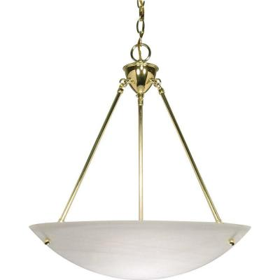 Glamor 3-Light Polished Brass Pendant