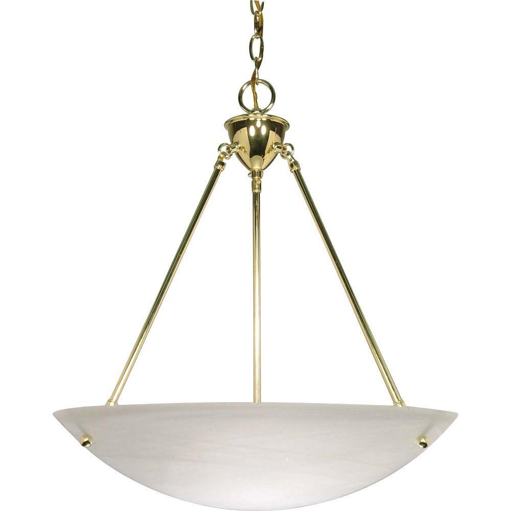 Glamor 3-Light Polished Brass Pendant