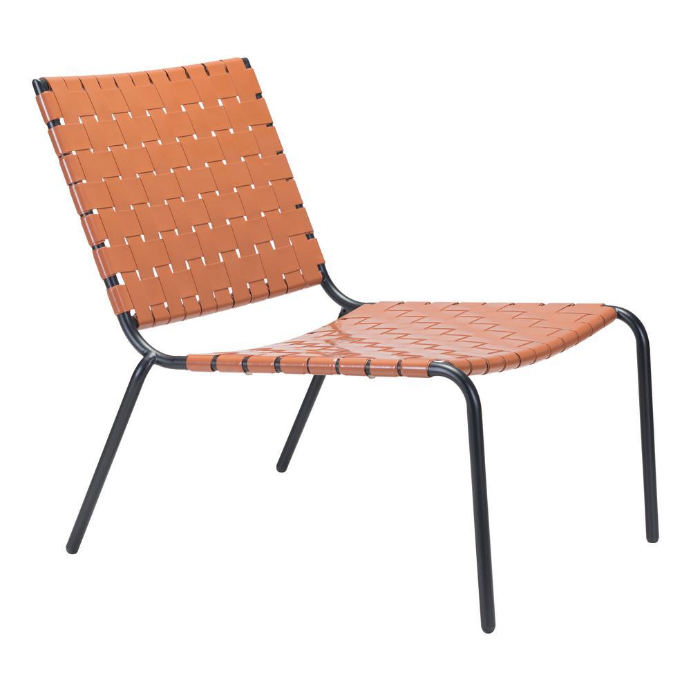 Beckett Tan Metal Outdoor Lounge Chair