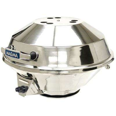 Portable Marine Kettle 3 Combination Stove and Propane Gas Barbecue Grill in Stainless Steel