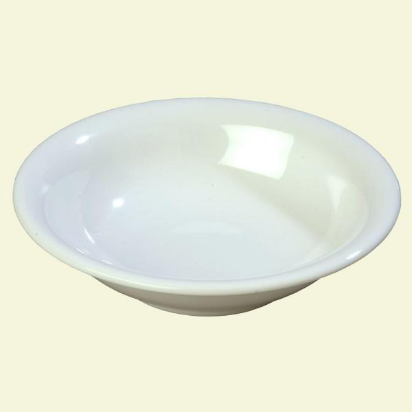 Carlisle 14.7 oz., 7.5 in. Diameter Melamine Rimmed Bowl in White