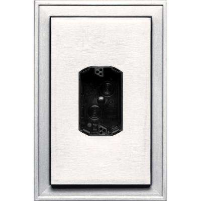 8.125 in. x 12 in. #117 Bright White Jumbo Electrical Mounting Block Centered