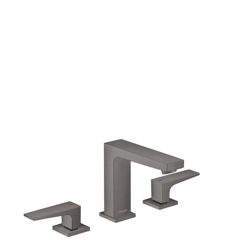Metropol 8 in. Widespread 2-Handle Bathroom Faucet in Brushed Black Chrome