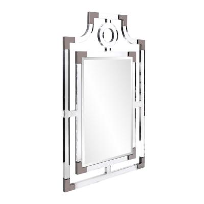 Large Rectangle Clear Beveled Glass Modern Mirror (46 in. H x 29 in. W)