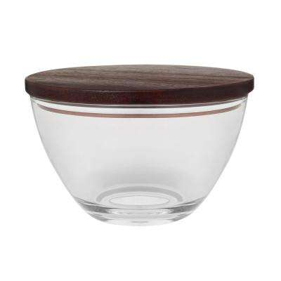 Urban Story 8.5 in. Large Glass Bowl with Lid