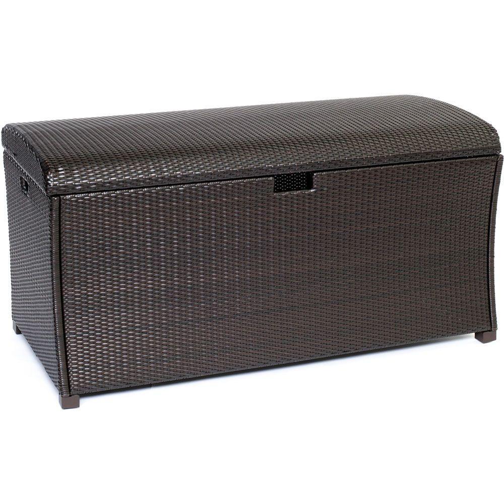 Rubbermaid Patio Chic 136 Gal Resin Basket Weave Storage