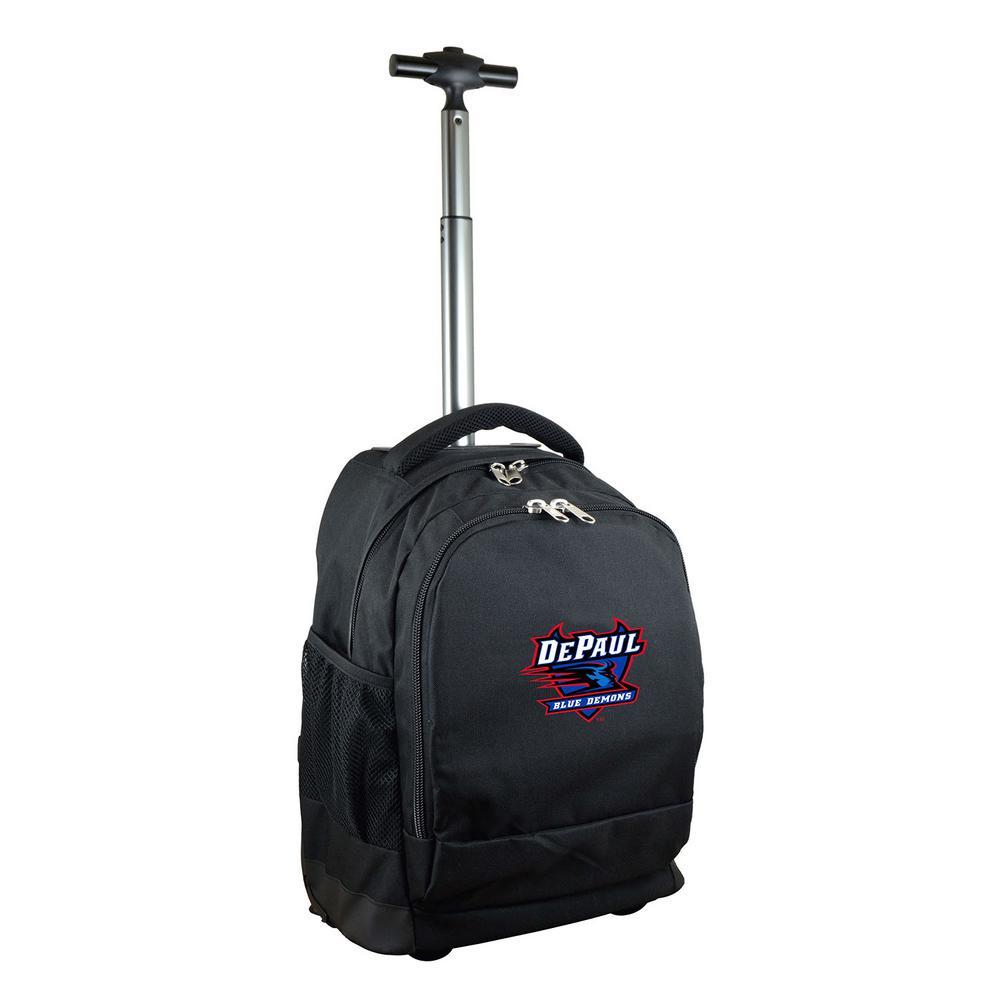 Denco NCAA DePaul 19 in. Black Wheeled Premium Backpack