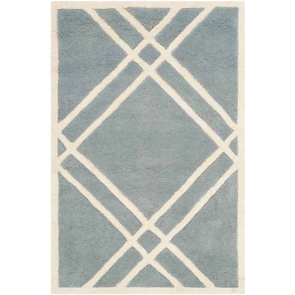 Safavieh Chatham Blue/Ivory 2 ft. x 3 ft. Area Rug