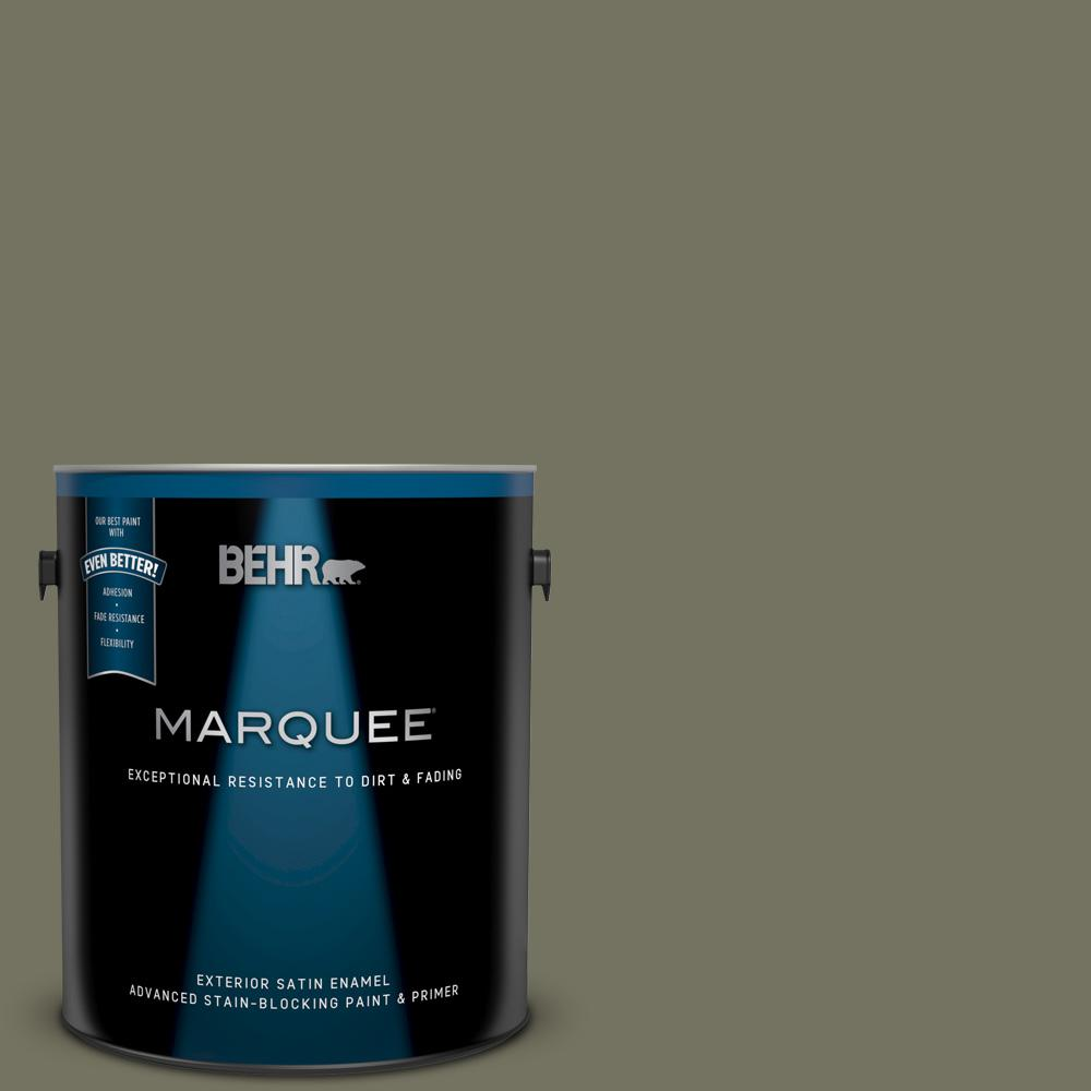 BEHR MARQUEE 1 gal. #BXC-20 Amazon River Satin Enamel Exterior Paint and Primer in One BEHR MARQUEE 1 gal. #BXC-20 Amazon River Satin Enamel Exterior Paint and Primer in One