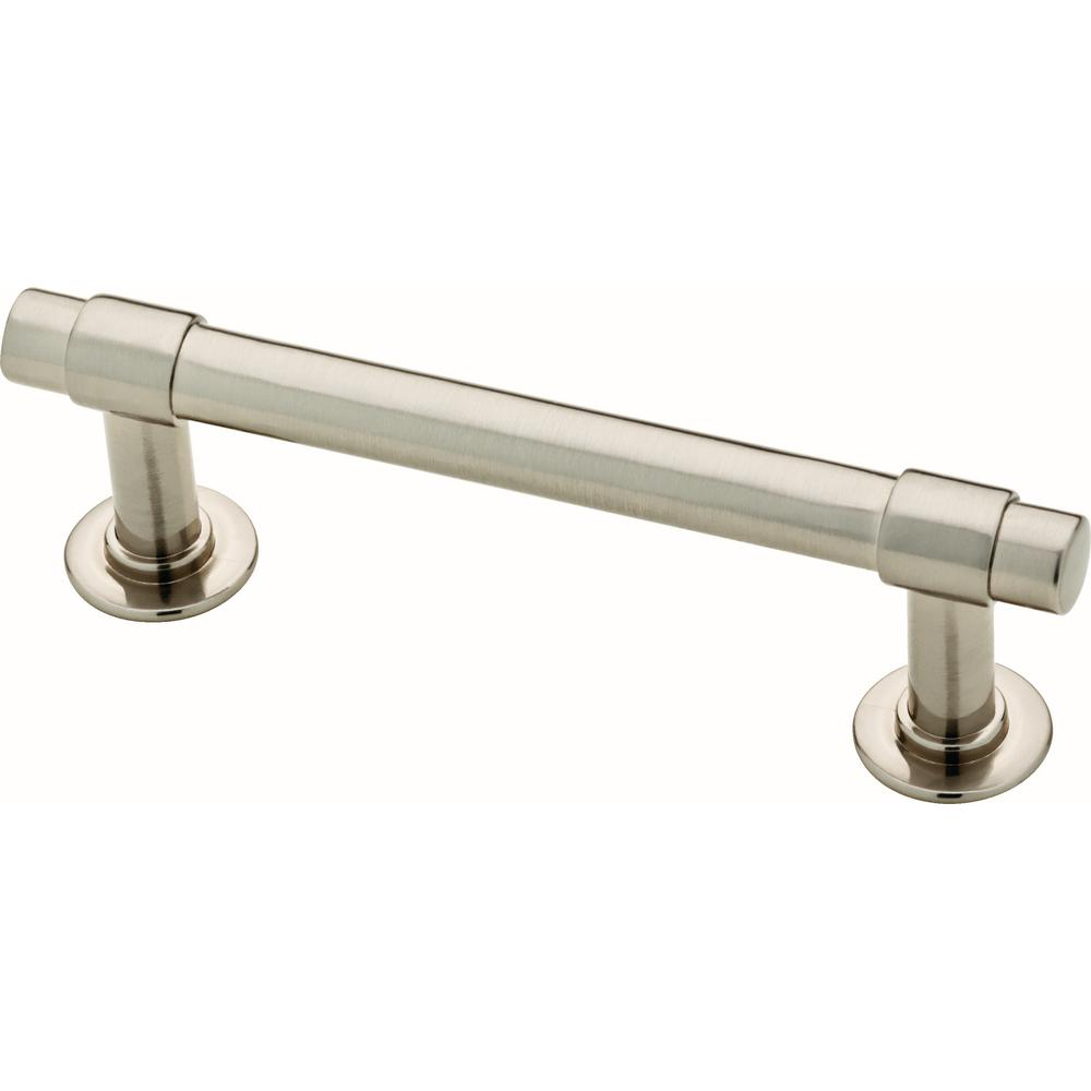 Liberty Essentials Francisco 3 in. (76mm) Center-to-Center Satin Nickel Drawer Pull (10-Pack)