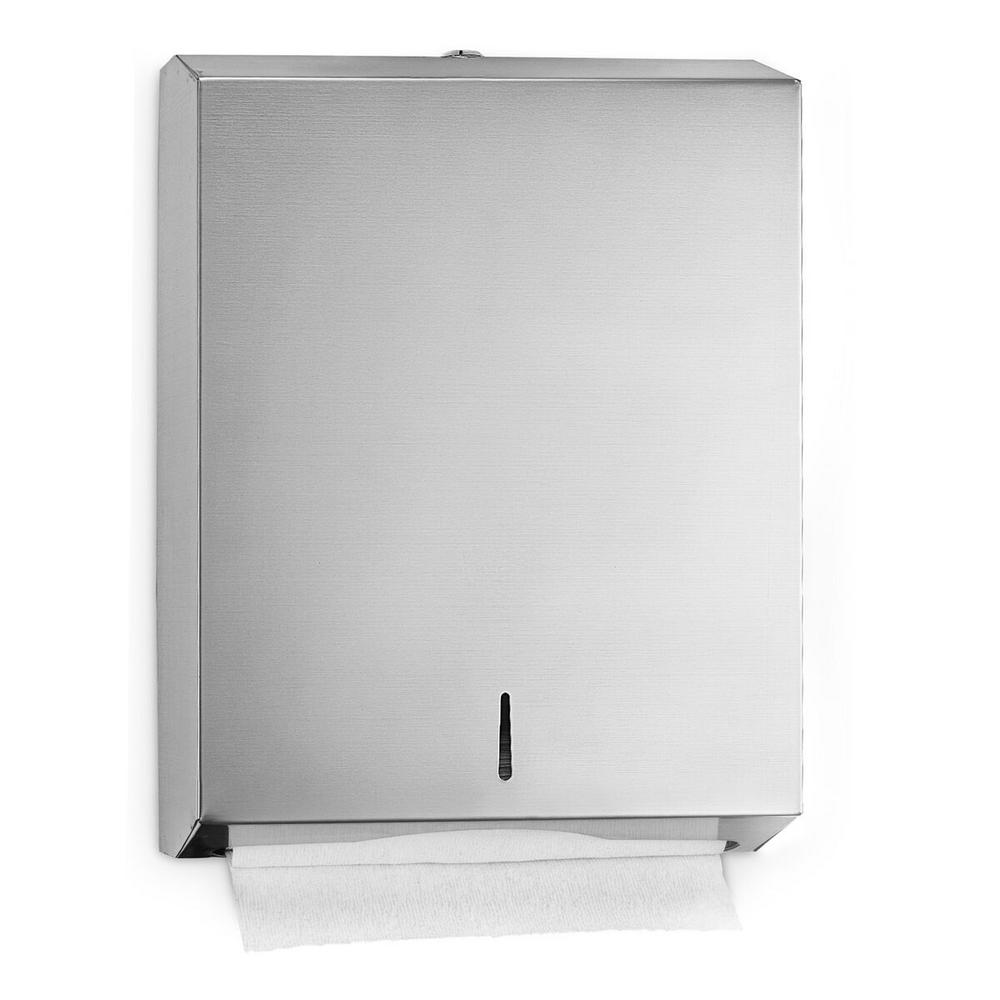 13032cba626 Alpine Industries Stainless Steel Brushed C-Fold  Multi-Fold Paper Towel  Dispenser