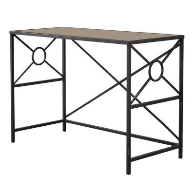 Damaris Copper and Glass Home And Office Laptop Desk