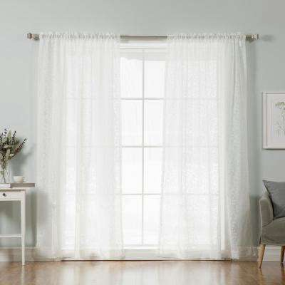 White Best Home Fashion Sheer Curtains Drapes Window