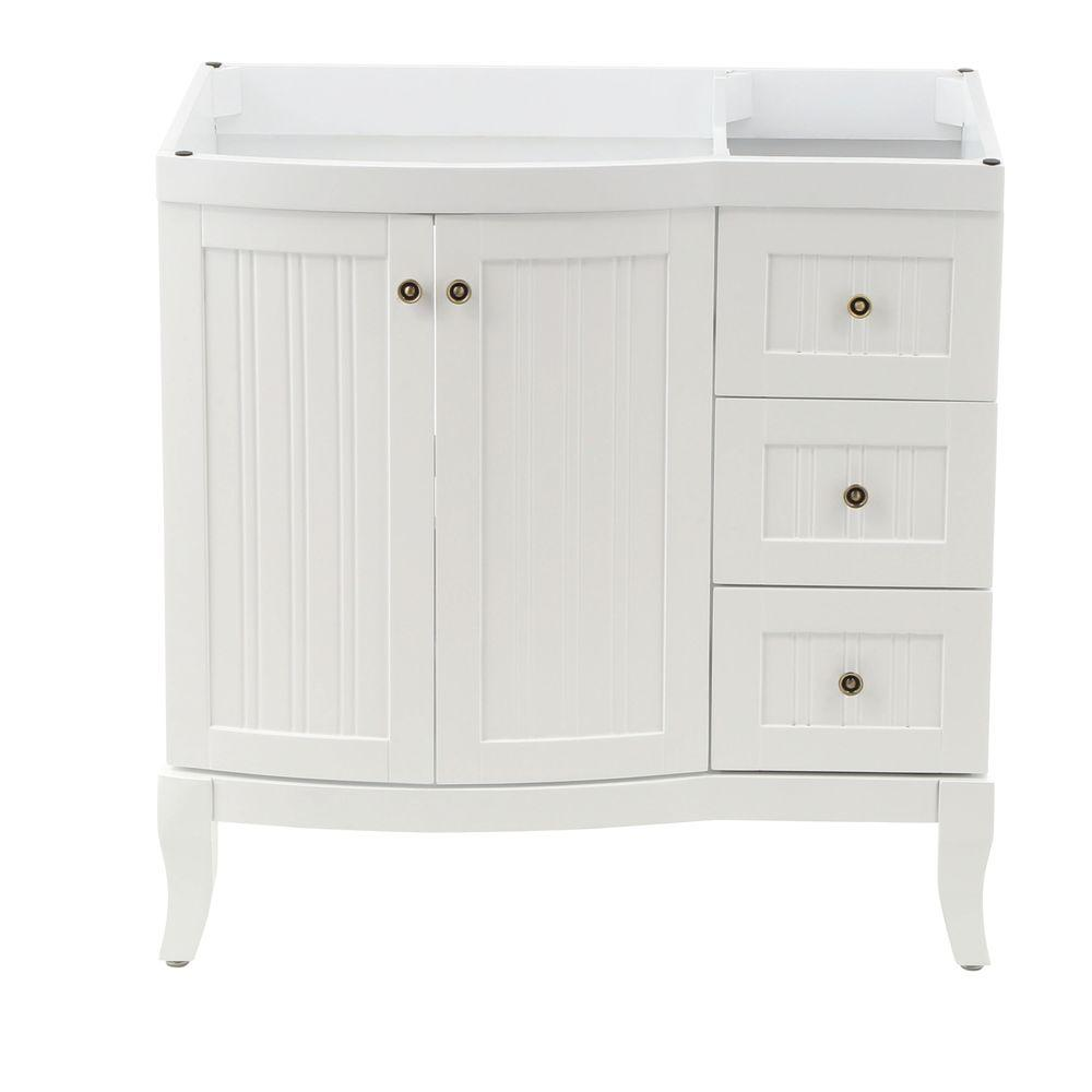 Virtu USA Khaleesi 36 in. Vanity Cabinet Only in White