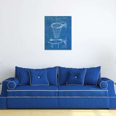 """20 in. x 16 in. """"Basketball Goal 1"""" High Resolution Graphic Art Print on Wrapped Canvas Wall Art"""