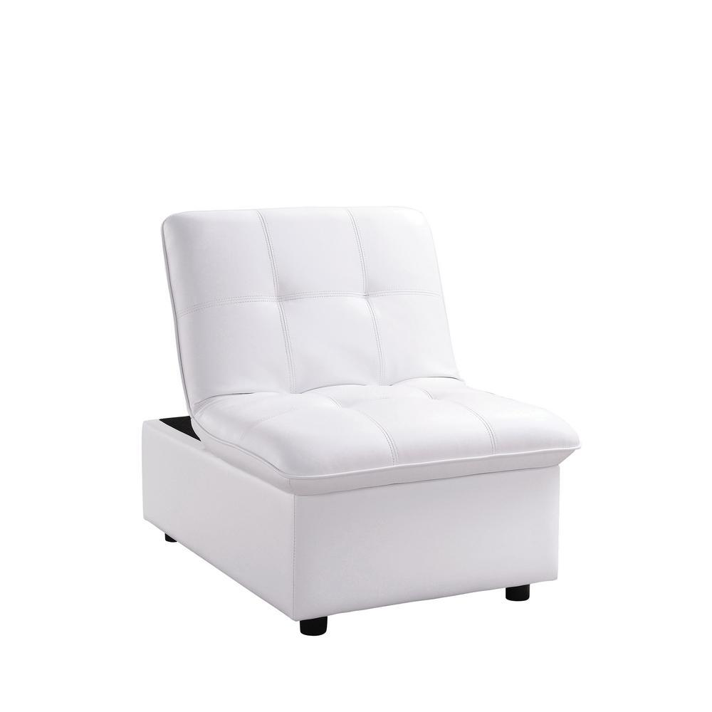 Houdanya White Futon Chair