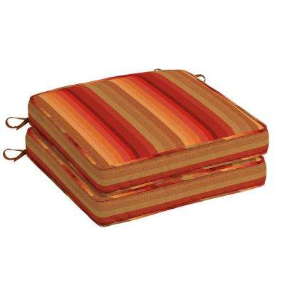 Sunbrella Astoria Sunset Square Outdoor Seat Cushion (2 Pack)