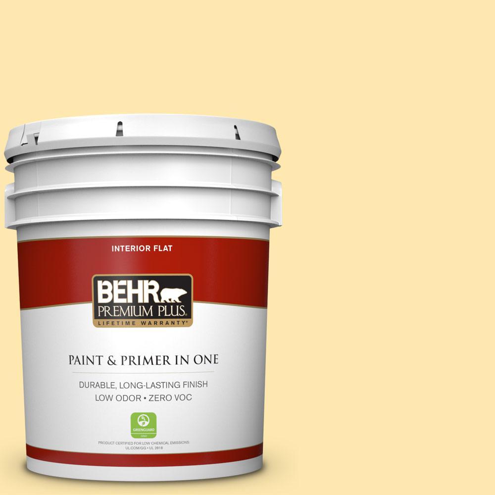 BEHR Premium Plus 5-gal. #P290-2 Sweet as Honey Flat Interior Paint