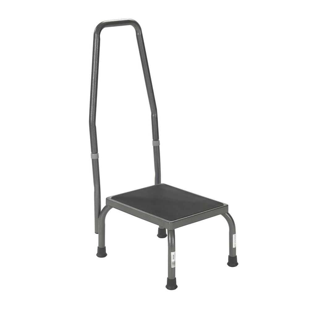 Drive Footstool With Non Skid Rubber Platform And Handrail
