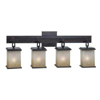 Plateau 4-Light Oil-Rubbed Bronze Vanity Light